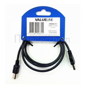 25x Valueline USB 2.0 HiSpeed Kabel, 1,0m A-B Stecker (NMMB4101)