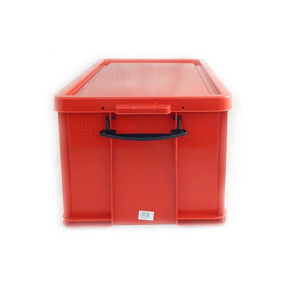 really useful box aufbewahrungsbox mit deckel rot kunststoff 84 liter nk ebay. Black Bedroom Furniture Sets. Home Design Ideas