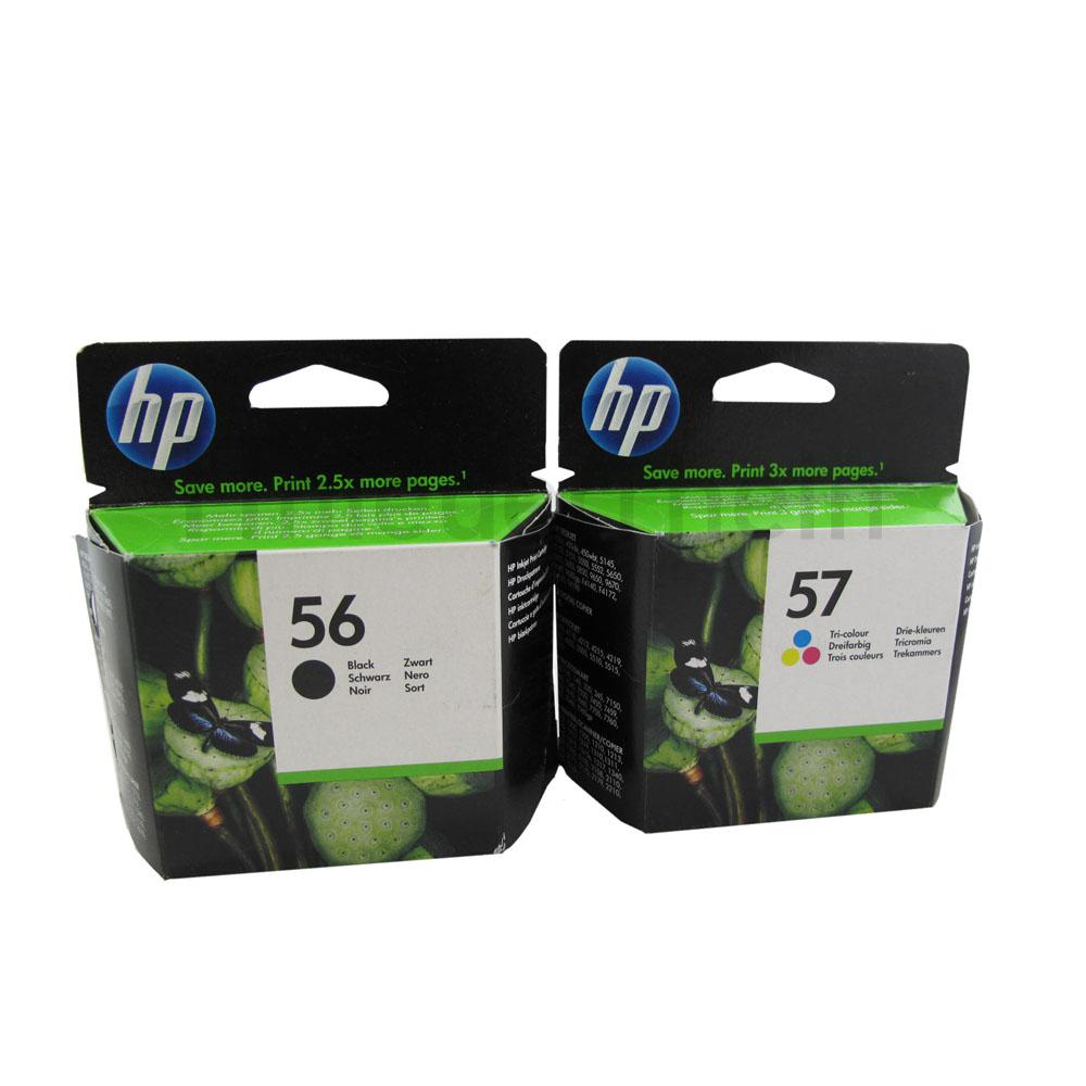 HP Druckerpatronen Set Nr. 56 Black C6656AE + Nr. 57 Color C6657A 2017-2018