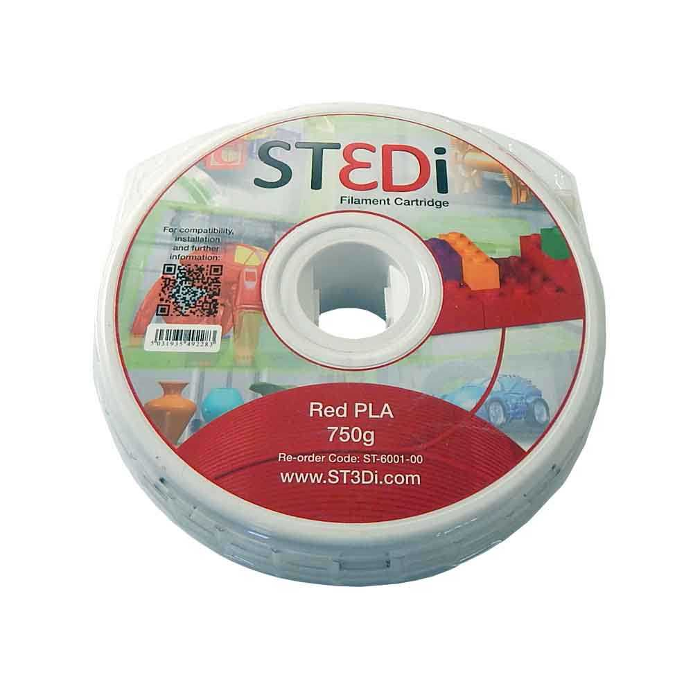 ST3Di Filament Cartridge, Filament Kartusche ST-6001-00 Red PLA, Rot, 750g