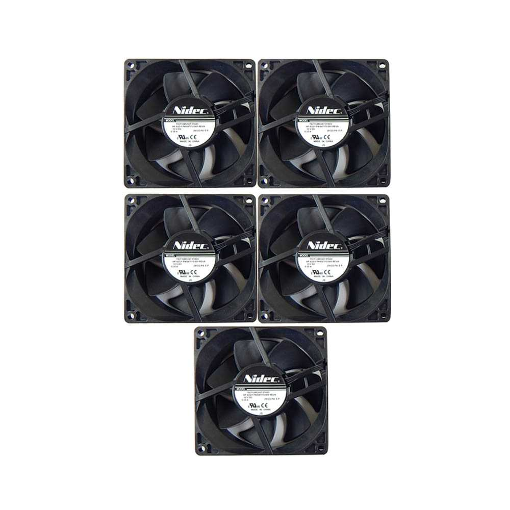 5 x Nidec internal cooling Fan T92T12MS3A7-57A03, HP, interner Lüfter 647113-001