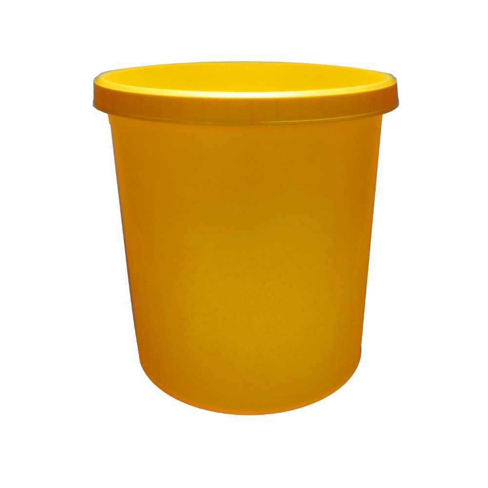 5 x helit h61058 papierkorb m lleimer kunststoff rund 18 liter gelb 2 liter einsatz. Black Bedroom Furniture Sets. Home Design Ideas