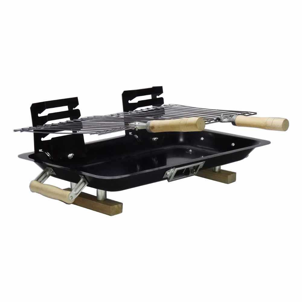 2 x hibachi barbecue kleiner grill camping-grill einweg-grill 43 x