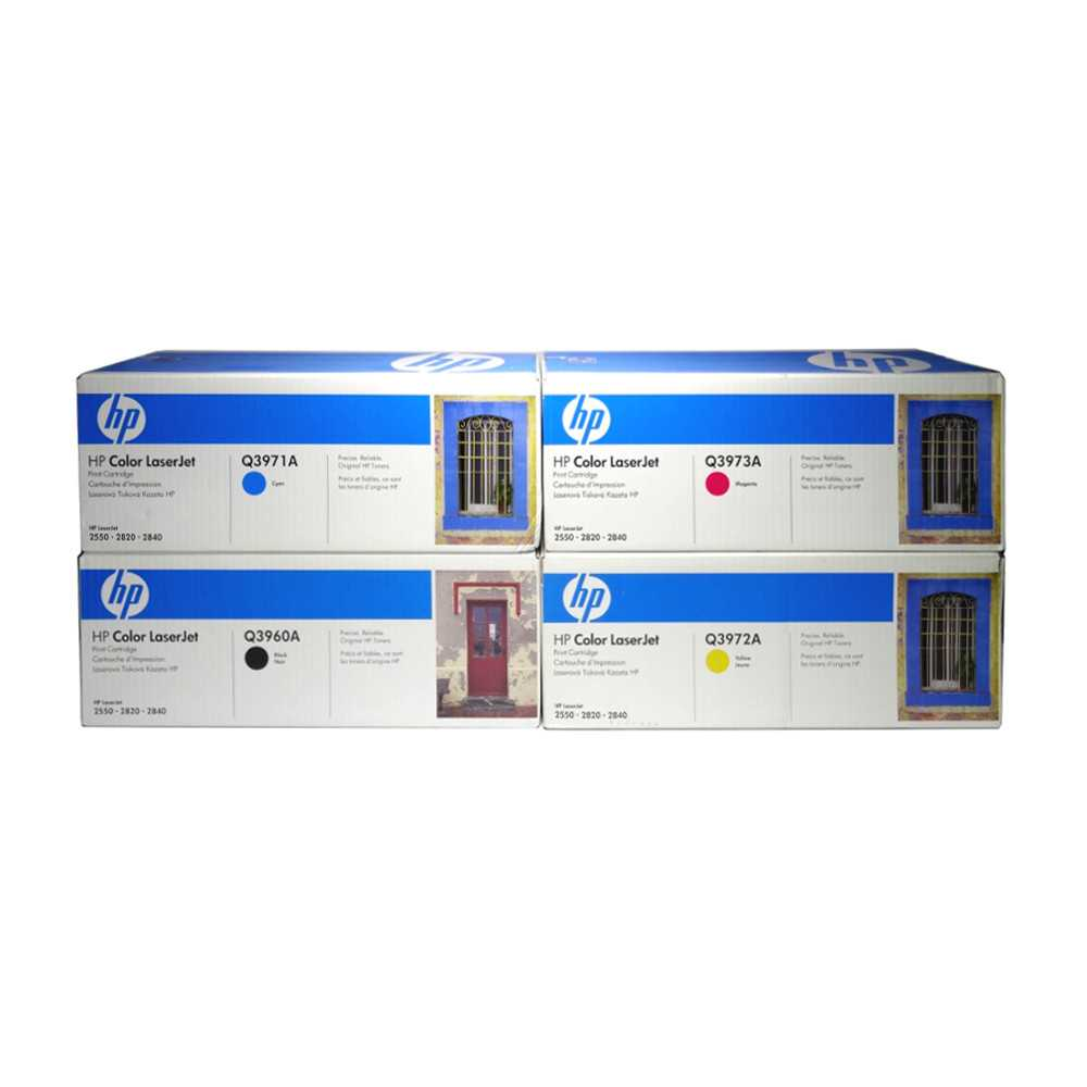 HP Color Toner Set Q3960A Q3971A Q3972A Q3973A für CLJ 2550 2820 2830 2840