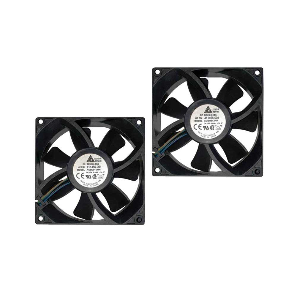 2 x Delta DC Brushless internal cooling Fan AUB0912HH, HP, interner Lüfter 411456-001