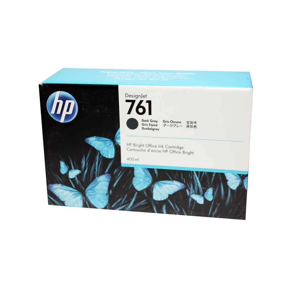 HP Druckerpatrone Nr. 761 Dark Gray CM996A ca. 400ml DesignJet T7100 2014-2016