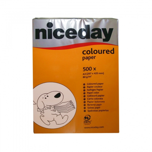 500 Blatt Niceday A3-Papier Druckerpapier Intensiv Orange 80g/m²